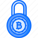 block, chain, cryptocurrency, lock, program, protection, safe icon