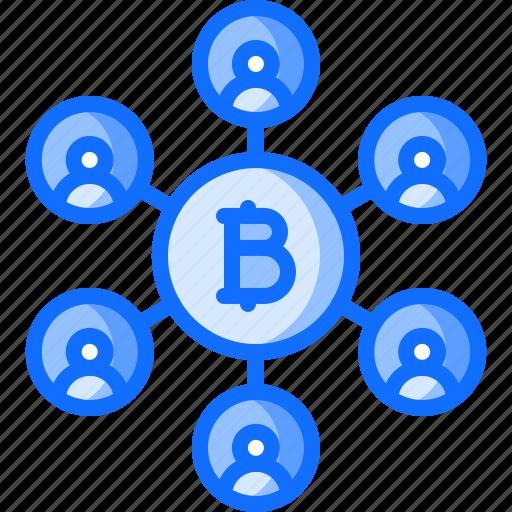 bitcoin, block, chain, coin, cryptocurrency, idea, network icon
