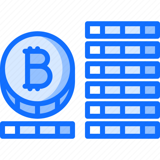 bitcoin, block, chain, coin, cryptocurrency icon