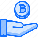 bitcoin, block, chain, coin, cryptocurrency, hand, payment
