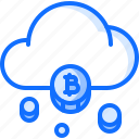 bitcoin, block, chain, cloud, coin, cryptocurrency, mining icon