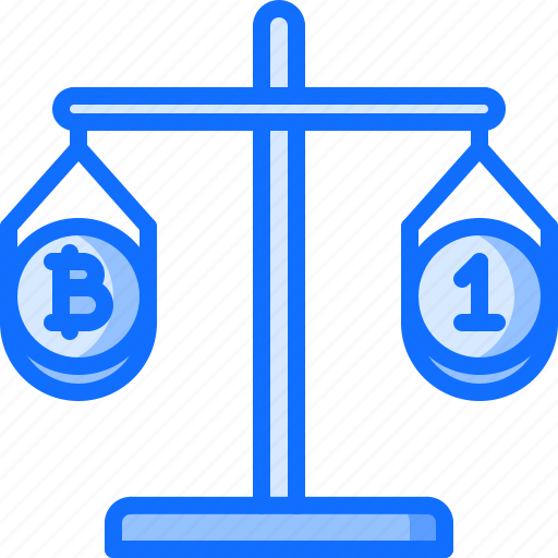 bitcoin, block, chain, coin, comparison, cryptocurrency, scales icon