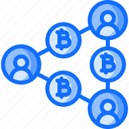 bitcoin, block, chain, coin, cryptocurrency, network, transfer icon