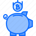 bitcoin, box, coin, cryptocurrency, money, saving icon
