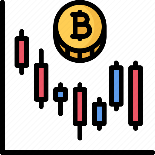 bitcoin, block, chain, chart, coin, cryptocurrency icon