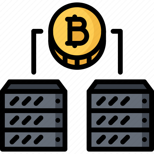 Bitcoin, block, chain, coin, cryptocurrency, data, server icon - Download on Iconfinder