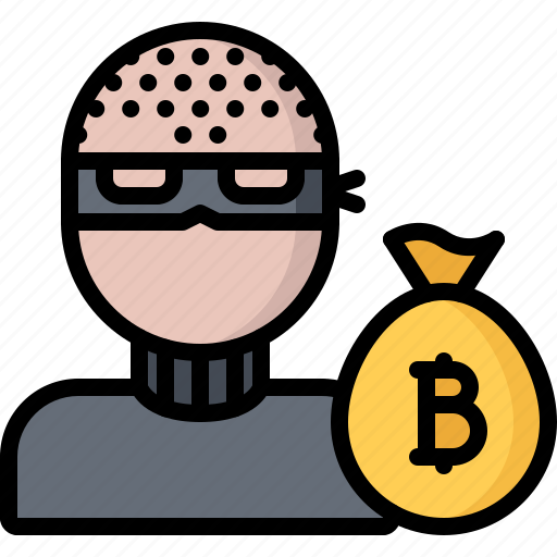 Bag, bitcoin, block, chain, coin, cryptocurrency, thief icon - Download on Iconfinder