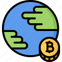 bitcoin, block, chain, coin, cryptocurrency, planet