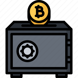 bitcoin, block, chain, coin, cryptocurrency, protection, safe icon