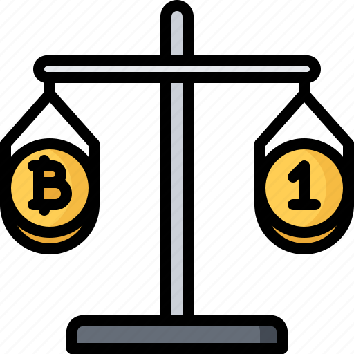 Bitcoin, block, chain, coin, comparison, cryptocurrency, scales icon - Download on Iconfinder