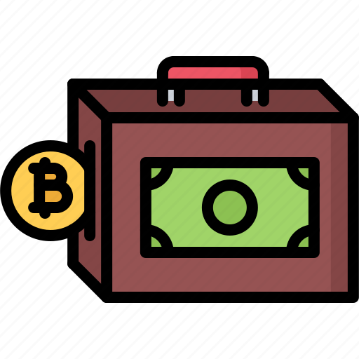bank, bitcoin, coin, cryptocurrency, finance, note, portfolio icon