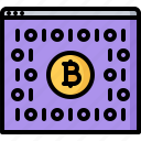 bitcoin, block, chain, code, cryptocurrency, program, programming icon