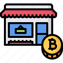 bitcoin, block, chain, coin, cryptocurrency, product, shop icon