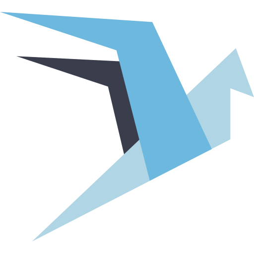 blockchain, wings icon