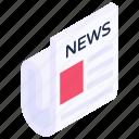 newspaper, journal, paper, magazine, bulletin icon