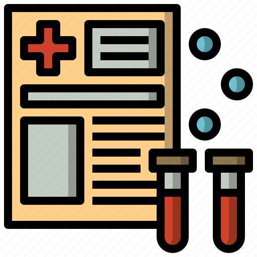 analysis, blood, donation, files, report, science icon