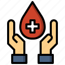 blood, donation, gestures, hands, healthcare, medical icon