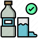 beverage, bottle, food, healthy, hydratation, restaurant, water icon
