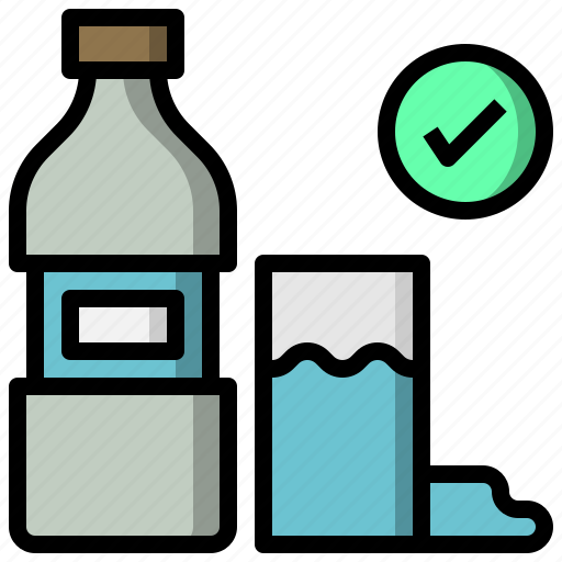 beverage, bottle, food, healthy, hydratation, restaurant, water icon
