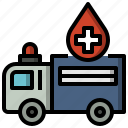 ambulance, automobile, emergency, healthcare, medical, transportation icon