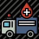 ambulance, automobile, emergency, healthcare, medical, transportation icon