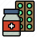 care, clinic, health, hospital, medical, medicine, pills icon