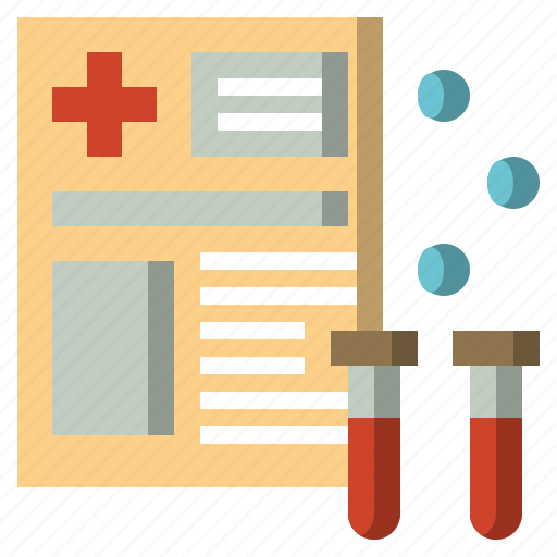 analysis, blood, donation, files, folders, report, science icon