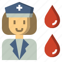 assistance, hospital, illness, lady, medical, nurse icon