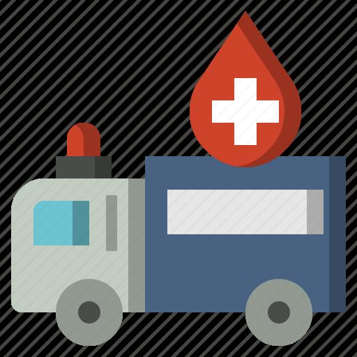 ambulance, automobile, emergency, medical, transportation, vehicle icon