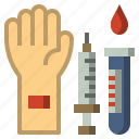 gestures, hands, syringe, testing icon