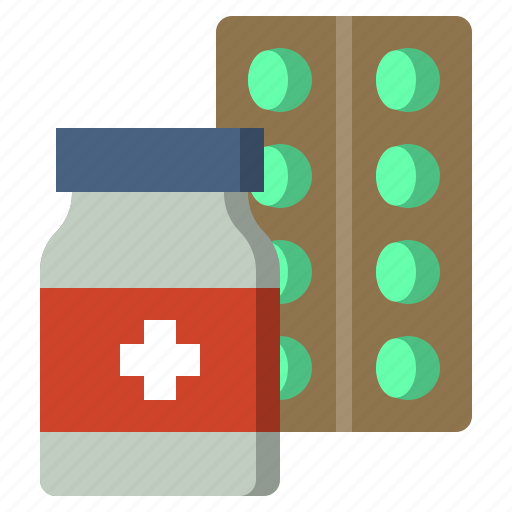 care, clinic, health, hospital, medical, medicine, pills icon