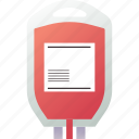 blood, blood bag, container, donation, hospital, medical, transfusion icon