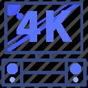 television, tv, stereo, speaker, 4k