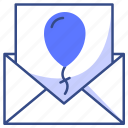 ballon, inbox, message, envelope, mail icon