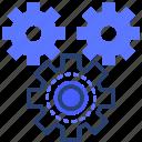gear, option, amalgamation icon