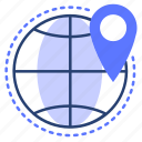 global, map, navigation, location