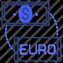 dollar, euro, money, exchange