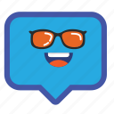 balloon, box, chat, emoticon, pop, smiley icon