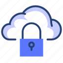 lock, cloud, data, security