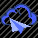 fly, cloud, data, server