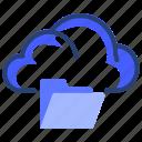 folder, cloud, data, file