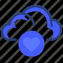 love, cloud, data, heart