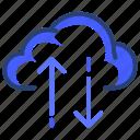 up, down, cloud, data, arrow