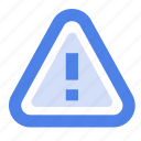 attention, danger, interface, notice, sign, warning icon