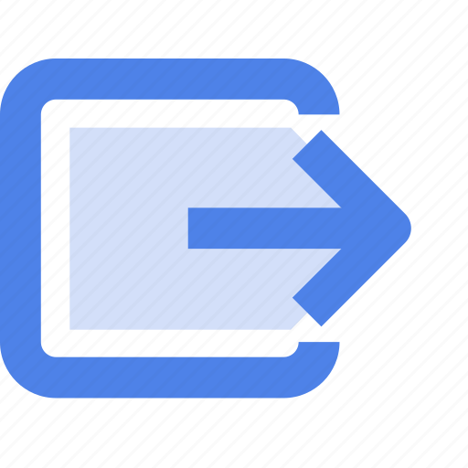 exit, interface, logout, profile, sign out icon
