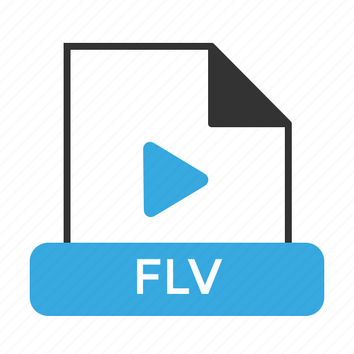 file, flv, format icon