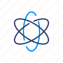 atom, chemistry, education, research, science icon