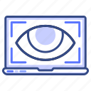 eye, laptop, view, seo