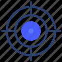 target, aim, focus