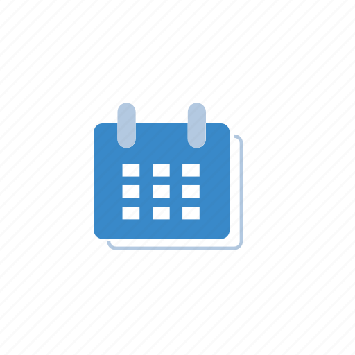Calendar Icon Blue : Blue calendar date marketing icon